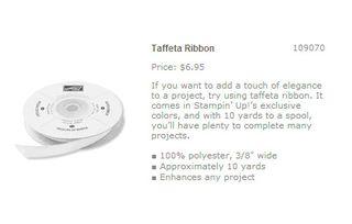 White taffeta ribbon