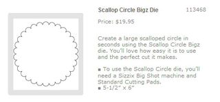 Scallop circle die