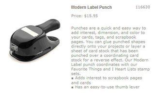 Modern label punch