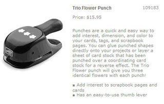 Trio flower punch