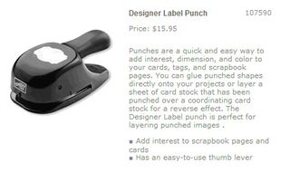 Designer label punch