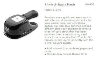 1 1-4 square punc