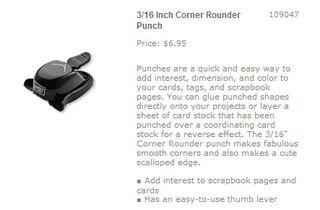Corner rounder punch
