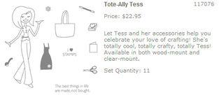 Tote-Ally Tess stamp set