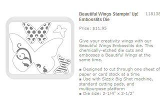 Beautiful wings embosslit