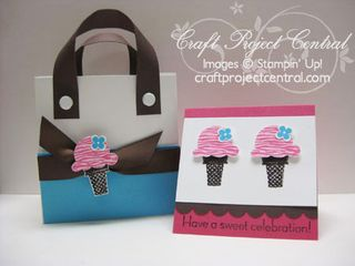 Sweet Scoops Tote & Note Cards