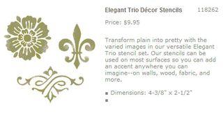 Elegant trio stencils