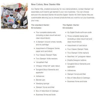 Starter kit info