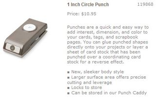 1 inch circle punch