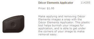 Decor elements applicator