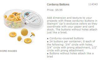 Summer sun corduroy buttons