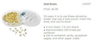 Gold brads