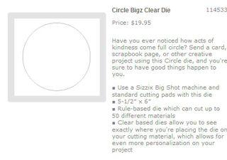 Clear bigz die