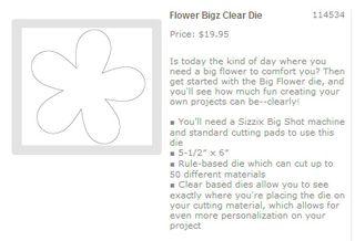 Clear flower bigz