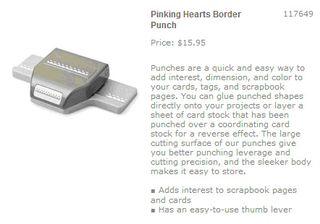 Pinking hearts border