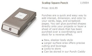 Scallop square punch