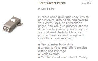 Ticket corner punch