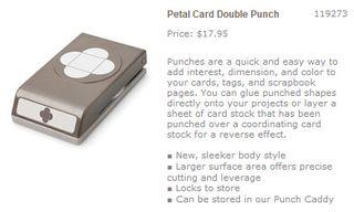 Petal card double punch