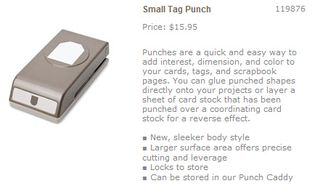 Small tag punch