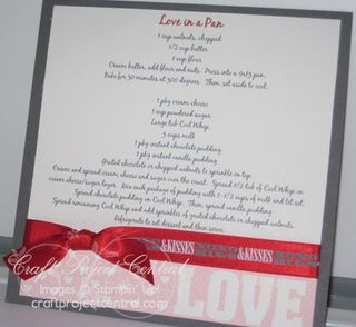 Love In a Pan Recipe Page