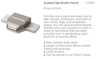 Scallop edge border punch