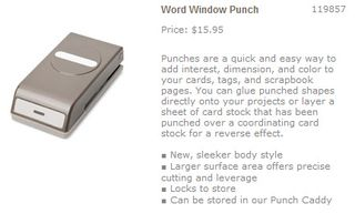 Word window punch