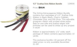 Scallop dots ribbon bundle