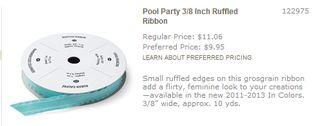 Pool party ruffled ribbon