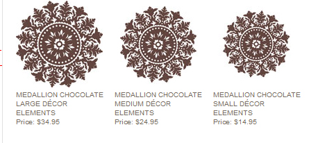 Medallion decor elements