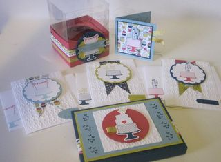 1- Cupcake Box, Card Set & Gift Card