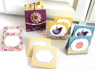 1 - Floral District Cards, Envelopes, & Purse Holder