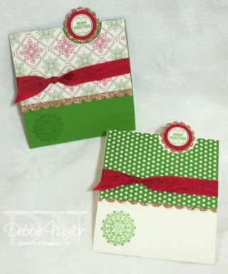 Unfrogettable Stamping - Fabulous Friday glimmer paper fun fold card 2012-11-09