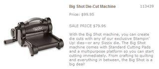 Big shot sale