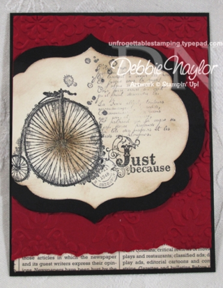 Unfrogettable Stamping | Mercedes Weber SAB swap card 2013-01-22