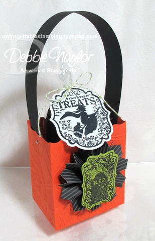 Unfrogettable Stamping:  Toxic Treat favor box