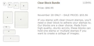 Clear block bundle promo
