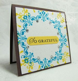 Unfrogettable Stamping | Jennifer Rawlings 3x3 card swap 2013-03-21