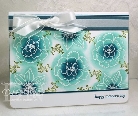 Unfrogettable Stamping | Pinterest-inspired Fabulous Friday Mother's Day card 2013-04-12