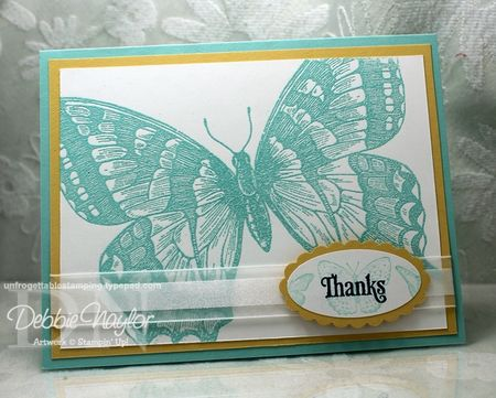 Unfrogettable Stamping | Stampin Up Swallowtail card 2013-04-17