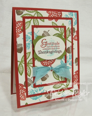 Unfrogettable Stamping | Fabulous Friday Thanksgiving triple-time card 2012-11-16