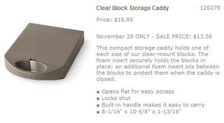 Clear block caddy promo