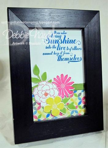 Unfrogettable Stamping   Fabulous Friday Secret Garden framed art 2013-01-11