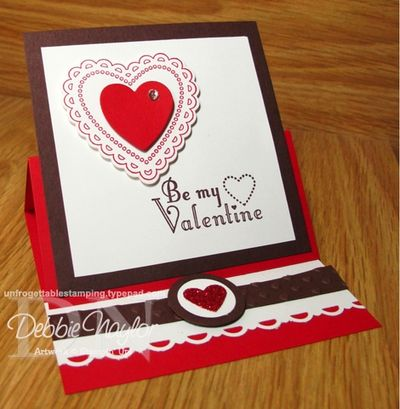 Unfrogettable Stamping | Fabulous Friday Valentine Easel Card 2013-01-25