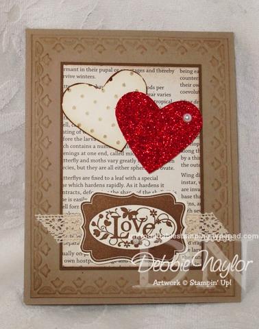 Unfrogettable Stamping | SU Vintage Valentine card 2013-01-29
