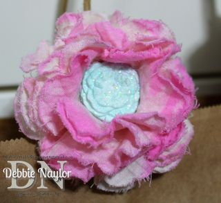 Unfrogettable Stamping | Fabulous Friday simply pressed clay flower brooch 2013-07-19
