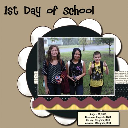 Unfrogettable Stamping | Back-to-school layout in MDS for Fabulous Friday 2013-08-23
