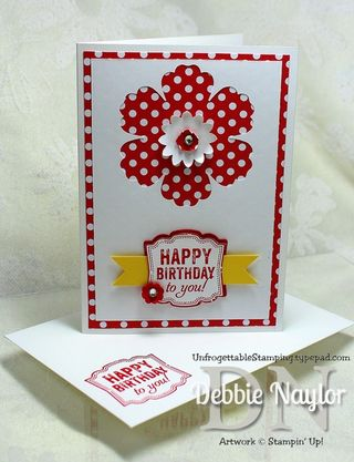 Unfrogettable Stamping | QE Label Love birthday card video tutorial 2013-06-19
