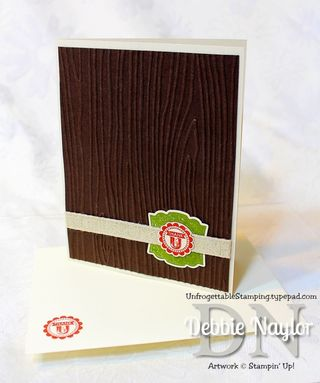 Unfrogettable Stamping | QE masculine thank you card video tutorial 2013-07-25
