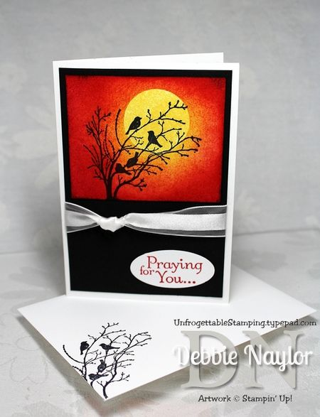 Unfrogettable Stamping | Serene Silhouettes sympathy card 2013-05-30