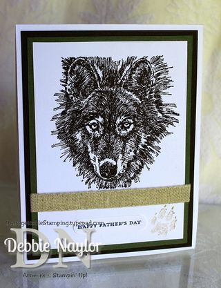 Unfrogettable Stamping | Wolf Father's Day card 2013-06-17